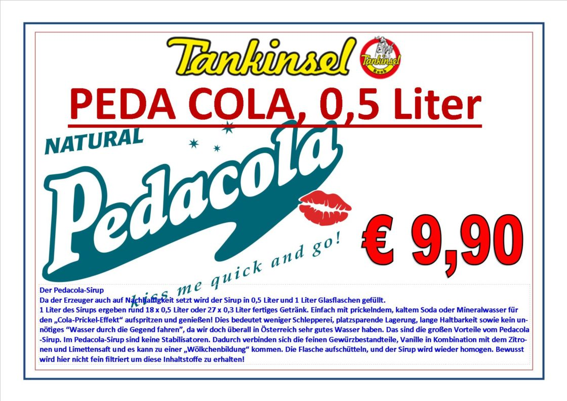 PEDA COLA - jetzt auch in unserem Sortiment.