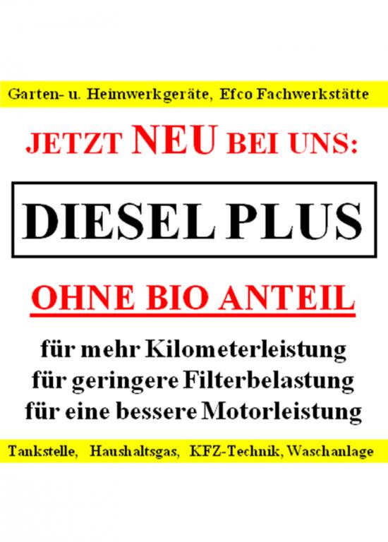 Werbung-Diesel-Plus